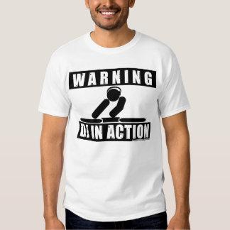 DJ na ação T-shirts