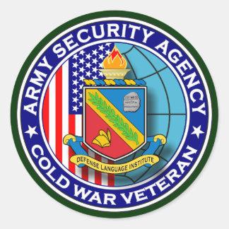 DLI - Veterinário 1 da guerra fria do ASA Adesivos Em Formato Redondos