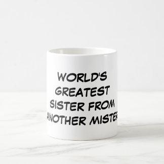 """Do """"A grande irmã mundo de um outro senhor"""" caneca"""