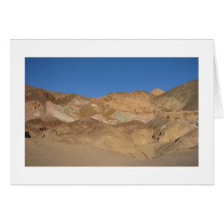 """Do """"A paleta"""" o Vale da Morte artista, Califórnia Cartão Comemorativo"""
