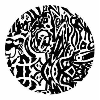 """Do """"abstrato de B&W da criatura pássaro"""" Foto Escultura"""