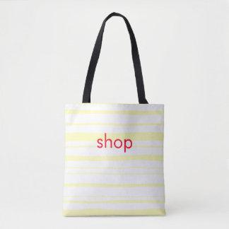 do amarelo cor-de-rosa da letra da loja o bolsa