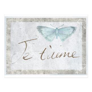 Do amor francês da borboleta de Je Taime cartão