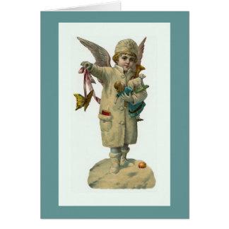 """Do """"anjo Natal com cartão de vintage dos"""