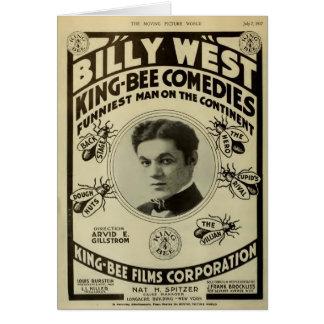 Do anúncio ocidental do expositor do comediante de cartão comemorativo