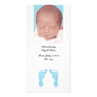 Do anúncios do nascimento da foto das pegadas cartoes com fotos