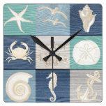 Do Aqua azul feliz do lugar da praia pulso de Relógios Para Paredes