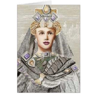 """Do """"arte da princesa"""" CricketDiane inverno Cartão Comemorativo"""