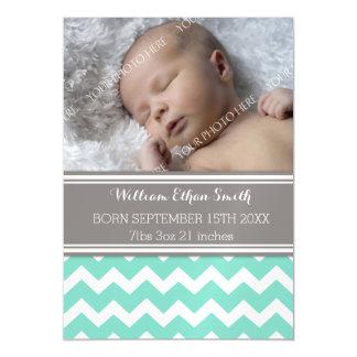 Do bebê novo cinzento de Chevron da cerceta cartão