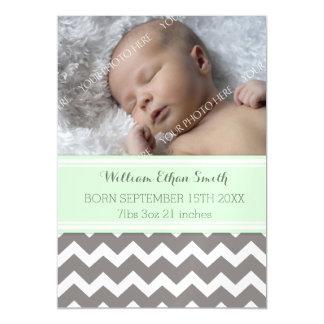 Do bebê novo cinzento de Chevron da hortelã cartão