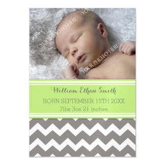 Do bebê novo cinzento de Chevron do limão cartão