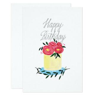 """Do """"bolo da flor açúcar com cartão de aniversário"""