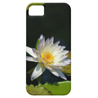 do branco capa de telefone waterlily