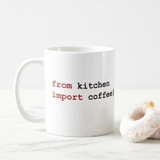 do café da importação da cozinha - caneca do pitão