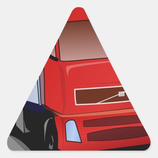 Do caminhão parabéns do destino semi 4x4 ATV Adesivos Em Forma De Triângulo