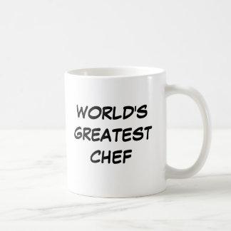 """Do """"caneca do grande cozinheiro chefe mundo"""" caneca de café"""
