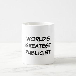 """Do """"caneca do grande publicitário mundo"""" caneca de café"""