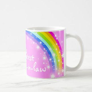 """Do """"caneca do rosa de arco-íris da grande cunhada caneca de café"""