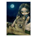 """Do """"cartão da lua lobo"""""""