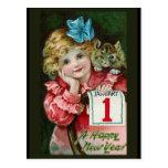 """Do """"cartão da menina feliz ano novo"""" cartoes postais"""