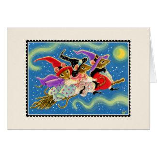  do cartão de cumprimentos do Dia das Bruxas dos