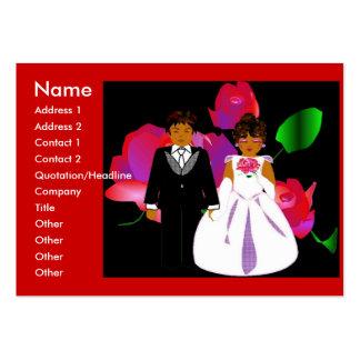 """Do """"cartão de visita do consultante casamento"""" mim cartão de visita grande"""