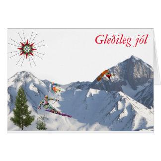 do cartão do Islândia-Natal