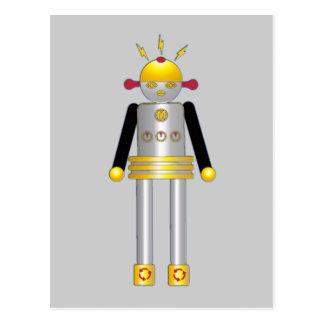 © do cartão do robô da menina de Martzkins M. 2012