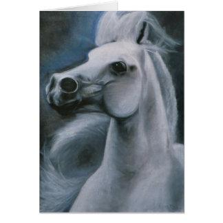 """Do """"cartão eqüino do cavalo fantasma"""" cartão comemorativo"""