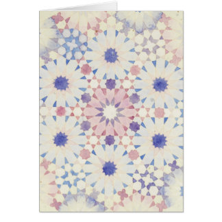 """Do """"cartão islâmico da geometria da flor milho"""" cartão comemorativo"""
