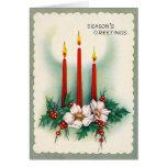 """Do """"cartão natal vintage - três velas"""