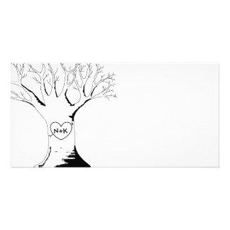 """Do """"cartões com fotos da árvore querido"""" cartão com foto"""