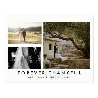 Do casal três da foto minimalista grato para cartão postal