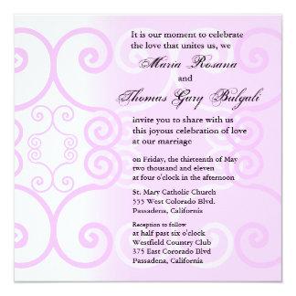 Do casamento do convite rosa simplesmente