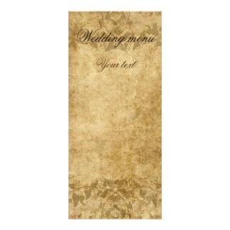 Do casamento vintage do pergaminho menu uma vez 10.16 x 22.86cm panfleto