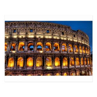 Do Colosseum romano com amor Cartão Postal