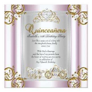 Do conto de fadas de Quinceanera 15o do Convite Quadrado 13.35 X 13.35cm