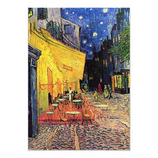 """Do """"convite do terraço café"""" de Van Gogh Convite 12.7 X 17.78cm"""