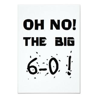 "do ""convites 60th aniversário"" convite 8.89 x 12.7cm"