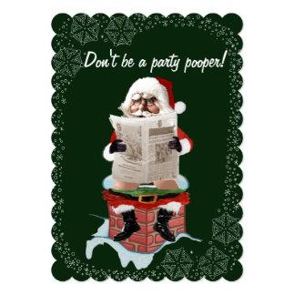 "Do ""convites engraçados do Natal de Pooper Convite 12.7 X 17.78cm"