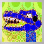 Do crocodilo azul do jacaré do divertimento mosaic posters
