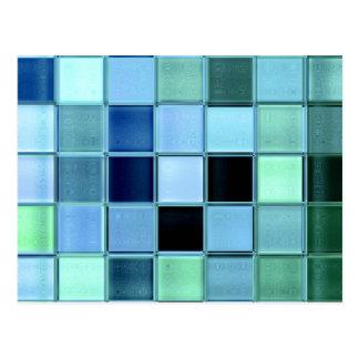 Do ~ de vidro do cartão do mosaico do mar design o cartão postal