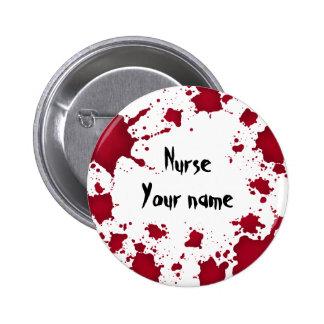Do Dia das Bruxas engraçado enfermeira psicótico b Botons