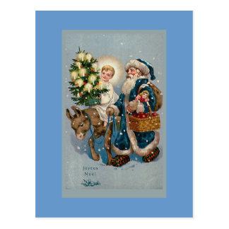 """Do """"Do cartão de Natal francês vintage cartão"""""""