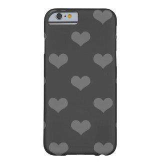 do emo cinzento dos corações da flanela 80s teste capa barely there para iPhone 6