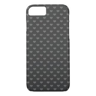 do emo cinzento dos corações da flanela 80s teste capa iPhone 7