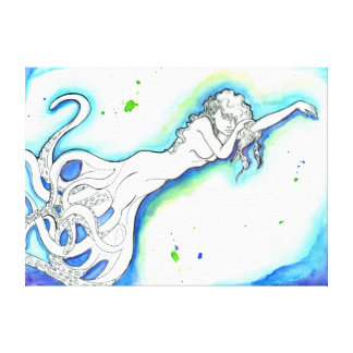 """Do """"envoltório Outstretched das canvas da sereia"""