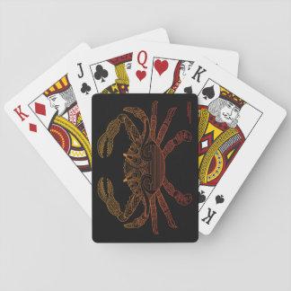 Do esboço náutico da arte do caranguejo preto jogo de carta