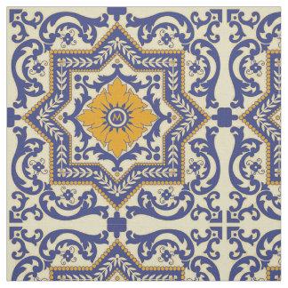 Do estilo cerâmico de Azulejo do monograma tecido