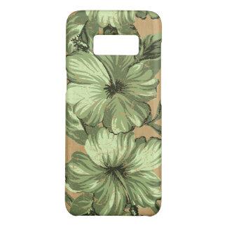 Do falso havaiano do hibiscus de Lanai verde de Capa Case-Mate Samsung Galaxy S8